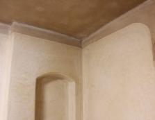 Ukázka interiéru s hliněnou omítkou