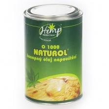Konopný napouštěcí olej Naturol k ochraně měkkého i tvrdého dřeva především v interiérech