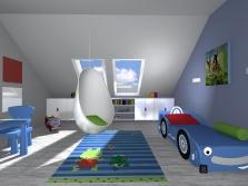 Dětské pokoje - návrh