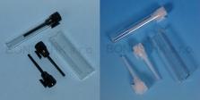 1 ml kosmetické testery s natur nebo černým uzávěrem s tyčinkou