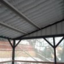 Plechové garážové stání