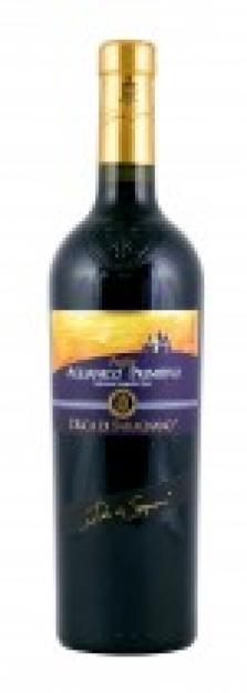 Itálie-Puglia, obs. 0,75 l, červené víno