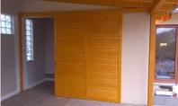 dřevěné interiérové posuvné dveře