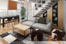 Návrh obývacího pokoje v orientálním stylu