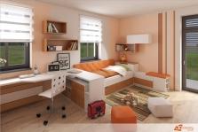 Návrh dětského pokoje pro dvě děti