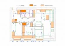 Dispoziční návrh rekonstrukce domu