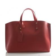 Červená kabelka kožená