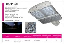 Produktový list k pouličnému osvetleniu LED-SPL-60