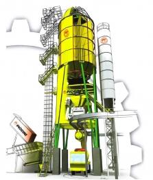 Věžové centrální betonárny