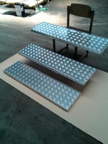 Ohýbané hlíníkové schody