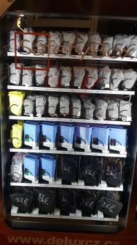 Výdejní automat v akci