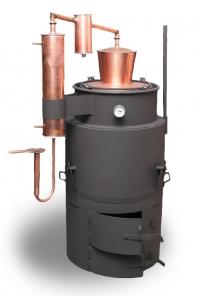 Klasický destilačný prístroj