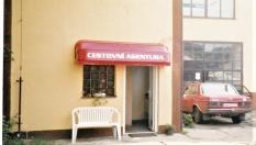 cestovní agentura - markýza nad vchod do provozovny