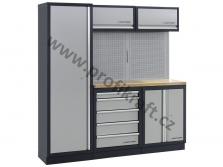 Pracovní stěny MOBILIO s modulárními systémy, pracovní deskou, prázdné nebo s výbavou.