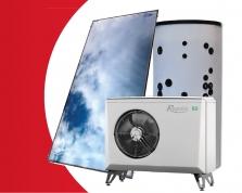 Akční sestava s tepelným čerpadlem a solárním systémem