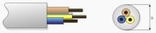 Kulaté provedení vodiče H03VV-F (YML-J)