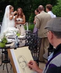 Karikatury na svatbě