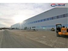 Novostavba industriální budovy Kozomín, dálnice D8