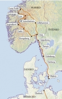 Norsko se stewardy, bez nočních přejezdů