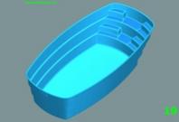 Zaoblený bazén s čelními schody