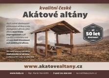 Dřevěné altány z akátového dřeva