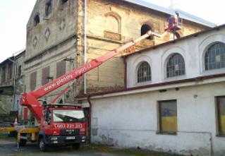 Výškové práce z plošiny