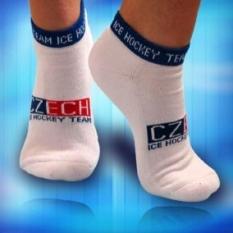 Ponožky bílé kotníkové