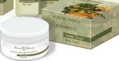 Bílý Mošus a Bergamot parfémovaný tělový krém