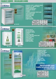 Chladící skříně s prosklenými dveřmi