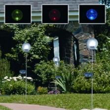 Solární zahradní dekorace - koule