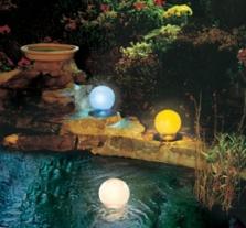 Světelná koule - modrá