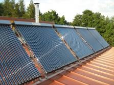 Solární systémy pro ohřev TUV a přitápění domu Mega LITE