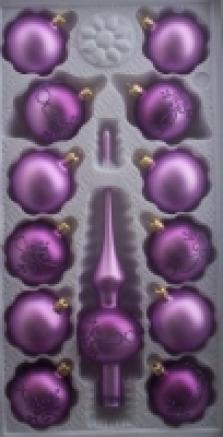 Skleněné vánoční ozdoby fialové