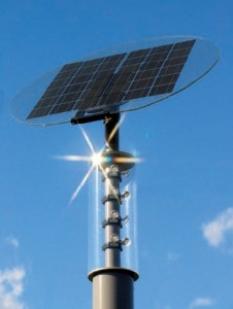 Solární lampy pro komunikace a stezky