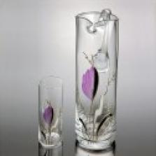 Dekorované nápojové sklo