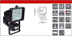 R6405BI - 1x500W R7s + senzor biely
