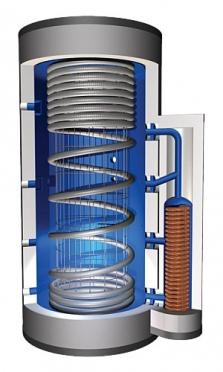 Vrstvící zásobník Pro-Clean® se sférickým výměníkem pro přípravu teplé vody a vytápění