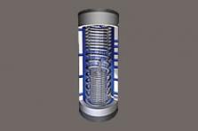 FS/1R solární zásobník čerstvé vody pro ohřev teplé vody a vytápění