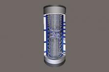 FS/2R solární zásobník čerstvé vody pro ohřev teplé vody a vytápění
