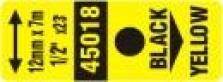 Páska Dymo D1 12mm černá na žluté