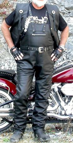 Kožené kalhoty - lacláče