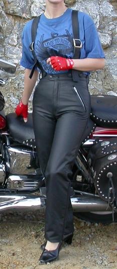 Kožené kalhoty dámské