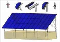 Konstrukce solárních panelů 3-řadá