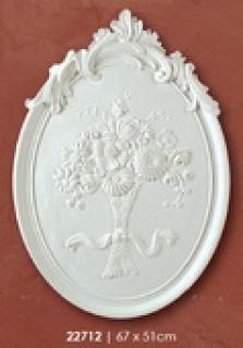 Medailon 67x51cm ovál s kvetinou