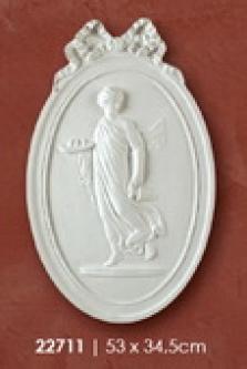 Medailon 53x34,5cm žena s džbánom