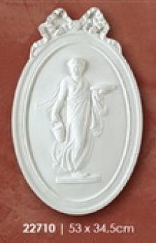 Medailon 53x34,5cm žena s košíkom