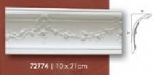 Rohová lišta 10x21cm s kvietkami
