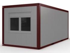 Obytný kontejner s oknem a dvěma dveřmi (Typ B)