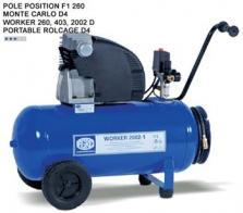Dielenské kompresory Pole Position, Montecarlo, Worker, Portable Rollcage