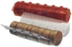 Plastické rolky na mince
